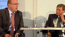 Steffen Kampeter wiceminister finansów i Leszek Balcerowicz