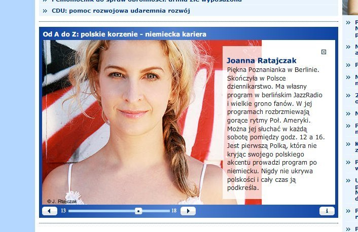 Deutsche Welle Grüßt Joanna!