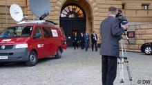 Przed Landtagiem w Schwerinie