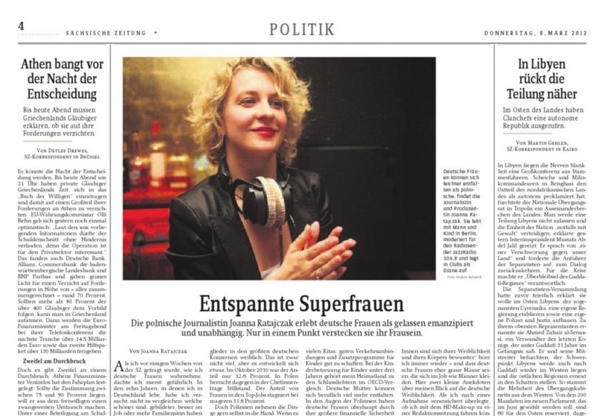 Politik – Entspannte Superfrauen